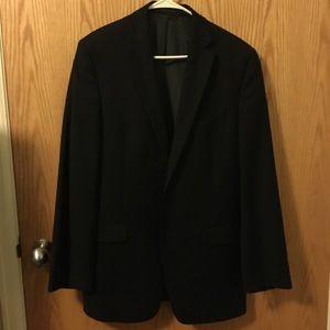 Full Slim Fit Calvin Klein Black Suit 100% Wool